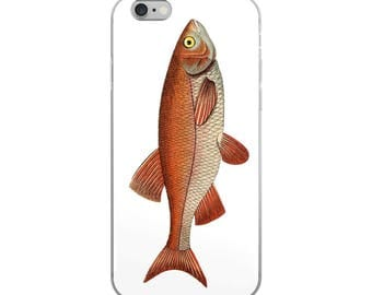 Sportsman iPhone case with vintage fish from botanical marine ocean sea images