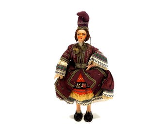 VINTAGE: Decorative Coin Doll - Collectable Doll - Traditional Doll - SKU 25-C4-00008880