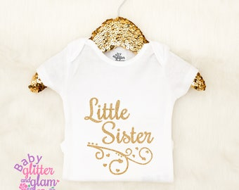 Little Sister Shirt, Little Sister Big Sister, Big Sis Little Sis, Baby Girl Shirt, Little Sis Shirt