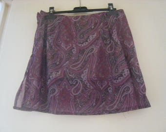 Straight skirt in sheer printed size 34-36