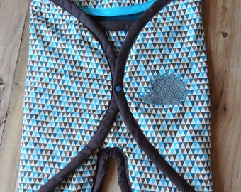 Nomadic blanket lined turquoise/chocolate 0-6 months