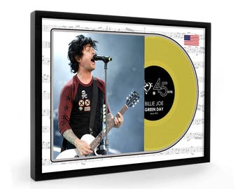 Billie Joe Green Day Framed Gold Disc Display Premium Edition (O)
