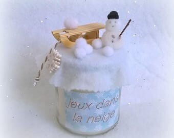 "Sled candle ""games in the snow"""