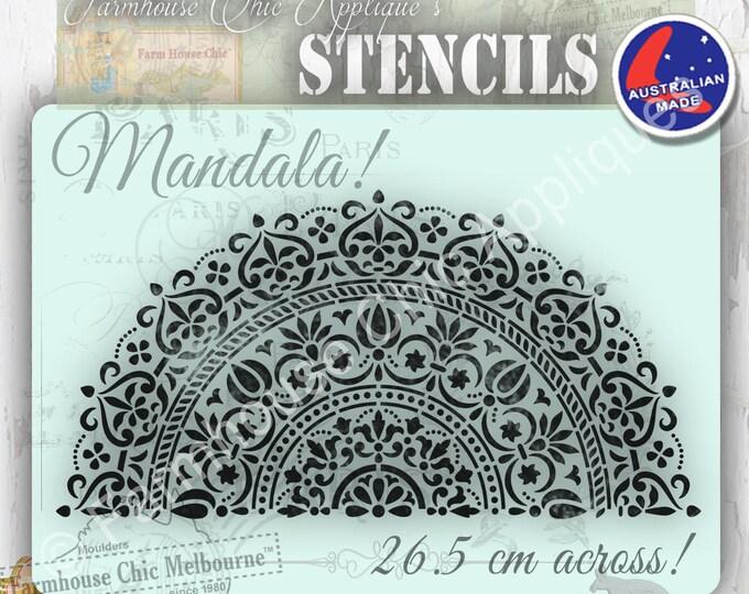 Create a Mandala Furniture Stencil 26.cm across! Mylar Stencil, Artist Stencil, Cake Stencil, Furniture Decoration, Wall Stencil.