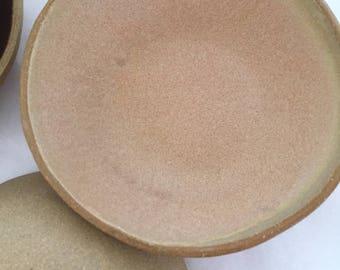 Blush pink stoneware bowls