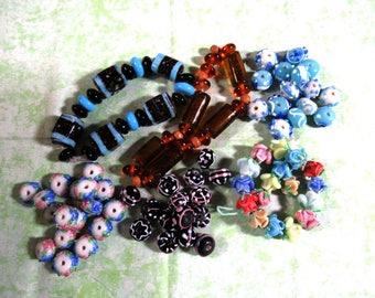 1 Handmade Lampwork Glass Bead Set (B416e)