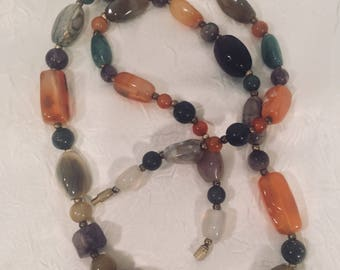 Vintage Agate Stone Necklace