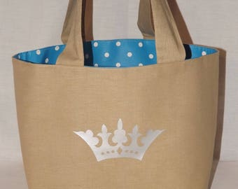 Lunch bag lined with oilcloth
