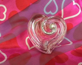 Lenox Crystal Heart Shaped Jewelry Box with pearls & Rhinestones