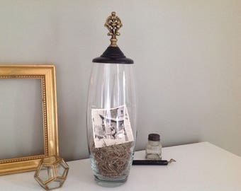 Upcycled jar - Upcycled vase - Shabby decoration - Chic decoration - Unique gift - Christmas gift