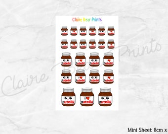NUTELLA Planner Stickers