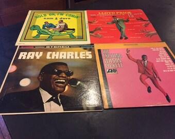 Vintage vinyl Super Soul collection (4 LP records) Wilson Pickett, Ray Charles, Sam & Dave, Lloyd Price