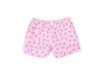 Baby Shorts, Small Floral, Pink, White, Spring, Summer, Fits dolls such as American Girl Bitty Baby, Bitty Twin, 15 inch Doll Clothes