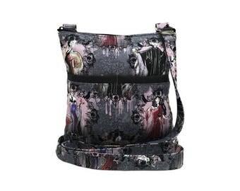20% OFF SALE Disney Villains Portraits XL Crossbody Bag // Sling Bag // Crossbody Purse // Shoulder Bag // Hipster