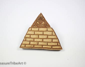 Great Pyramid Hat Pin - Maple Wood Item #1058