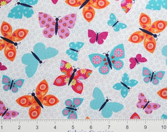 "Studioe ""Wings-N-Things"" ~ Butterflies 3094-1 ~ Colorful BUTTERFLIES ~  By The Half Yard ~"