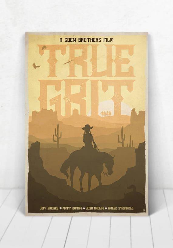 True Grit Movie Poster Illustration / True Grit Movie Poster / Movie Poster / True Grit