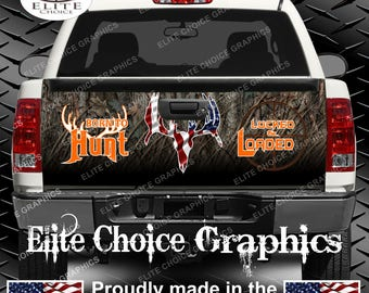 Born To Hunt Camo Truck Tailgate Wrap Vinyl Graphic Decal Sticker Wrap