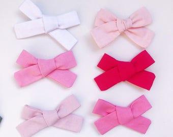 Charley pink heaband or clips newborn to girls