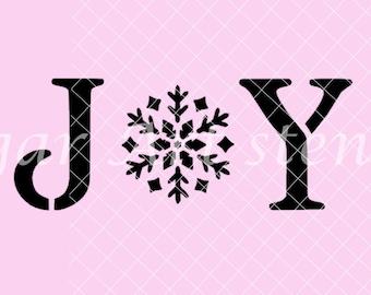 Joy Stencil NB2183 Christmas Holiday Noel