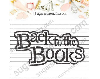 Back to school cookie stencil NB900751