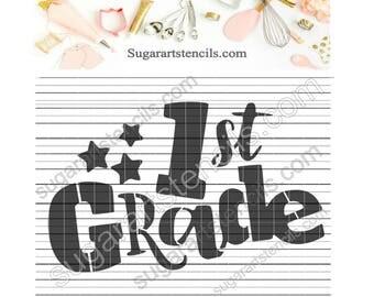 1st grade School cookie stencil NY0145