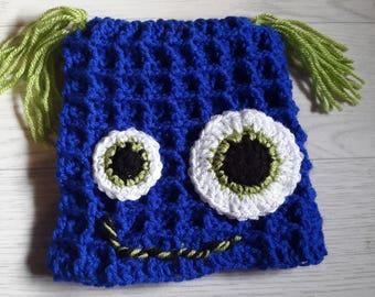 fun Monster hat for baby handmade crochet