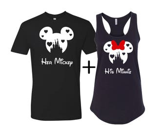 Heart castle disney inspired shirts, Hubby and Wifey shirts, Disney couples shirts, Gift for her, Disney couples tess, Disney inspired