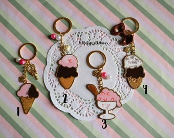 Ice creams in resin and metal