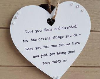 Grandparents gift personalised unique keepsake