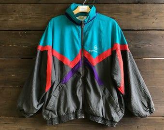 Vintage 90s Sergio Tacchini Windbreaker Jacket