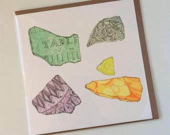 Glass Shard Greeting Card
