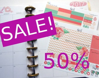 SALE - monthly kit - April (Happy Planner Stickers)