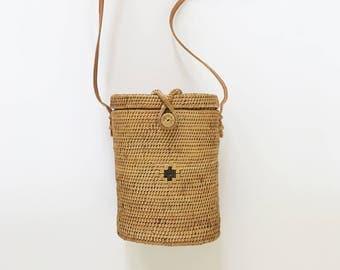 Bucket // Rattan Woven Basket Bag