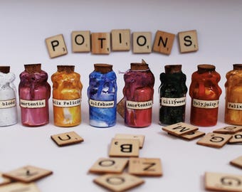 Homemade Wizard Potion Bottles