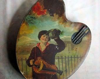 Huntley & Palmers' Artist Palette Biscuit Tin