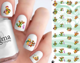 Pooh Christmas Nail Decals (Set of 48)