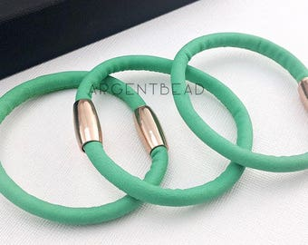 1pc  8.5inch length VERY SOFT PU  pastel wedding green  Boho Leather Wrap Bracelet - charm bracelet Wrap Bracelet Leather Wrap AG0018