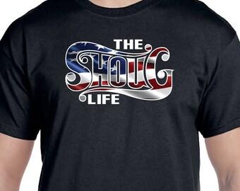 The SHOUG LIFE + Wavy US Flag T-shirt