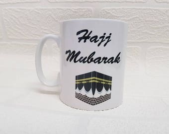 Personalised Umrah, Hajj or Eid Mubarak Mugs islamic gift