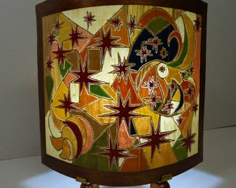 """LAMP from """"Oval"""" wooden INLAY"""