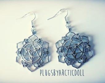 Pair of silver boho earrings