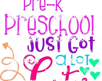 Pre-K Just Got Cuter/ Back To School Svg/ Preschool Svg/ Kindergarten Svg/ Prek Svg/ Pre-K Svg/School Svg/ Back To School Svg/ Teacher Svg