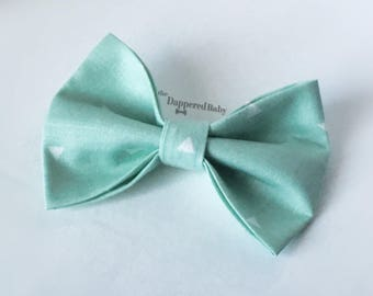 The Dappered Baby Mint Bow Tie or Hair Bow