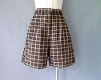 20% off using coupon! Vintage high waist plaid shorts women's size S/M made in USA