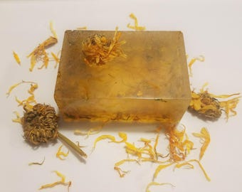 Calendula & Orange Olive Oil Soap, Orange Soap, Calendula Soap, Acne Soap, Natural Soap, Holistic Soap, Gentle Soap, Gifts for Her, Gifts
