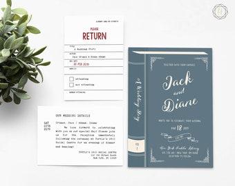 Book Wedding Invitation, Printable Invite Set, Storybook Invitation, Literary Invitation, DIY Invitation Suite, Wedding Invitation DIY #LCS