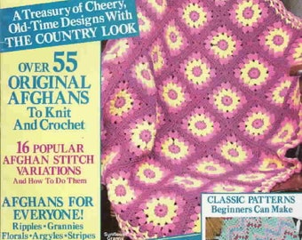 Vintage 'Country Afghans 88' crochet pattern magazine in pdf