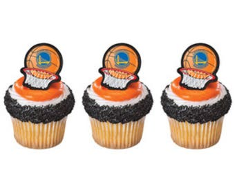 12 Golden State Warrior Cupcake Toppers
