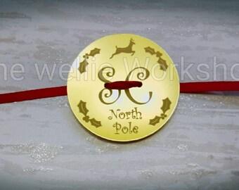 Santa's lost button Christmas decoration